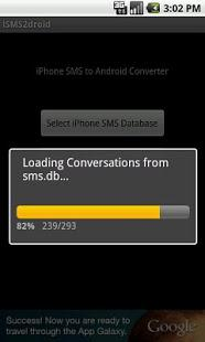 step 4 to transfer SMS from iPhone to Android