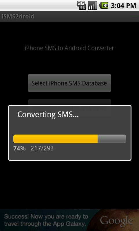 transfer sms from iphone to android free