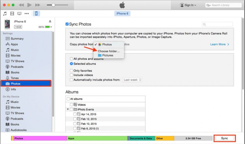 Transfer Photos from Samsung to iPhone-