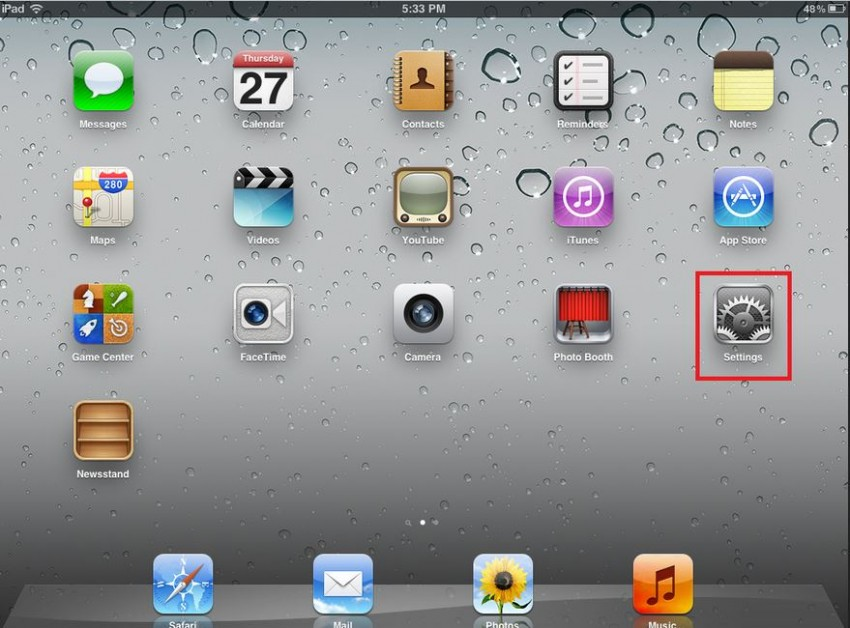 How to transfer contacts from iPad to iPhone-turn on setting on ipad