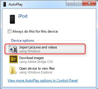 Transfer Photos from iPod to iPhone -Import photos and videos