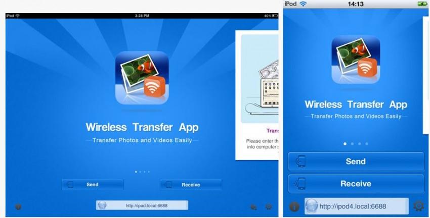 Transfiera fotos del iPod al iPhone - Instale la aplicación Wireless Transfer
