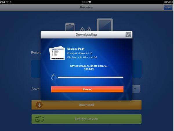 Transfiere fotos del iPod al iPhone - Transfiriendo