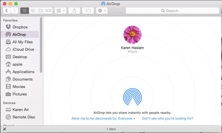 Transfer files from iPhone to iPad-AirDrop