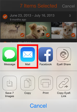 Transfer files from iPhone to iPad-Email