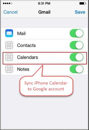 How to transfer calendar from iPhone to Android-