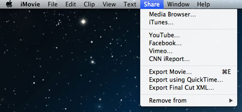How to transfer video from iPhone to iMovie-export movie