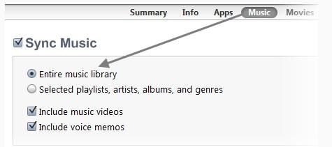 O que fazer quando não se consegue transferir músicas para o iPhone-música está marcado