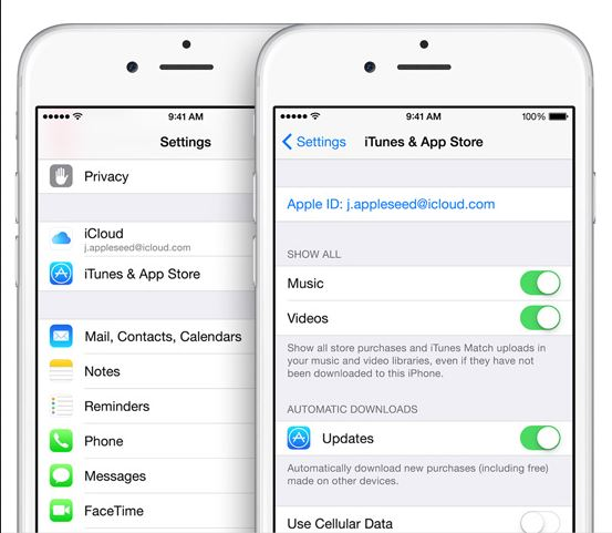 Transfer apps from iPhone to iPhone-icloud