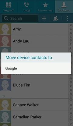Comment Sauvegarder les contacts-sélectionner-google-Étape 3