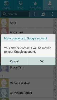 Comment sauvegarder les contacts-sélectionner-ok- étape 4