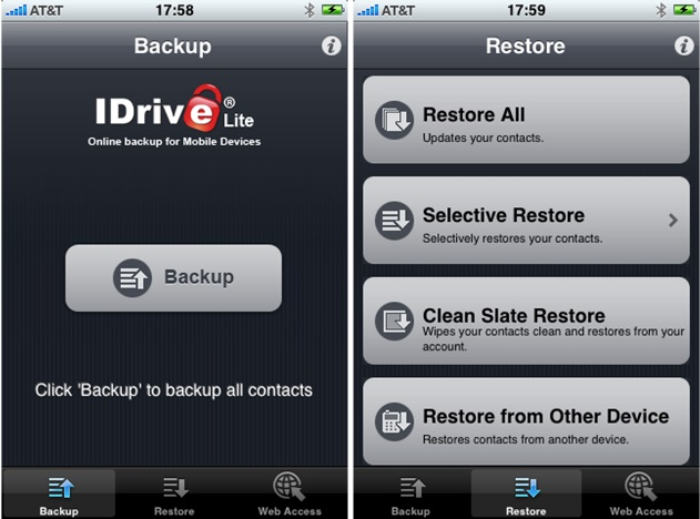 How to backup iPhone-idrive