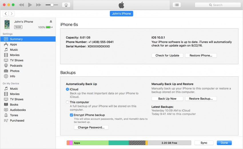 How to Restore iPhone from Backup-Restore Backup