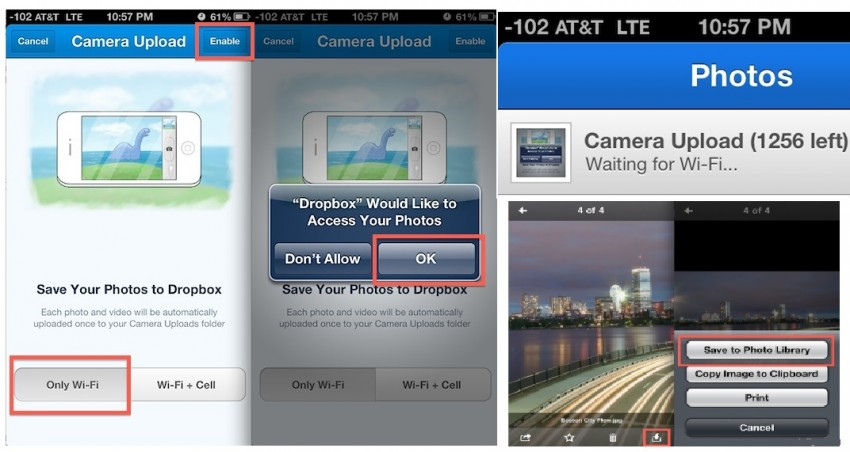 How to backup iPhone-android photo- top 5 photos backup software-Dropbox