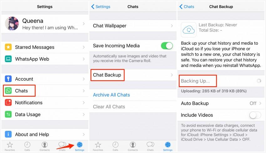 Top 3 ways to restore Whatsapp-icloud backup
