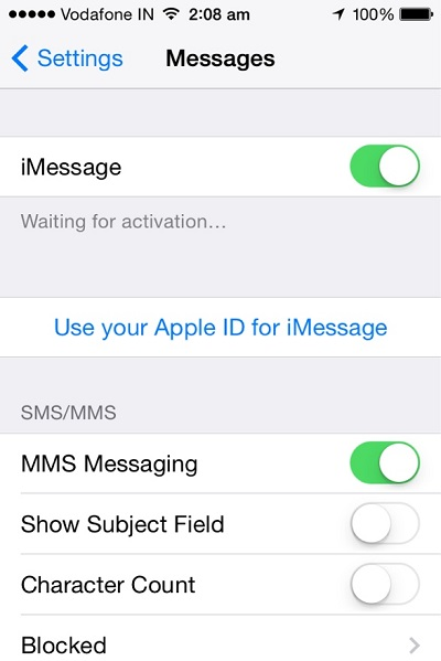 How to sync messages from iPhone to Mac-imesssge Sync - Step 1