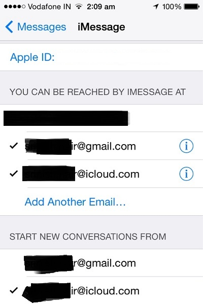 How to sync messages from iPhone to Mac-iMessage Choose ID- Step 3