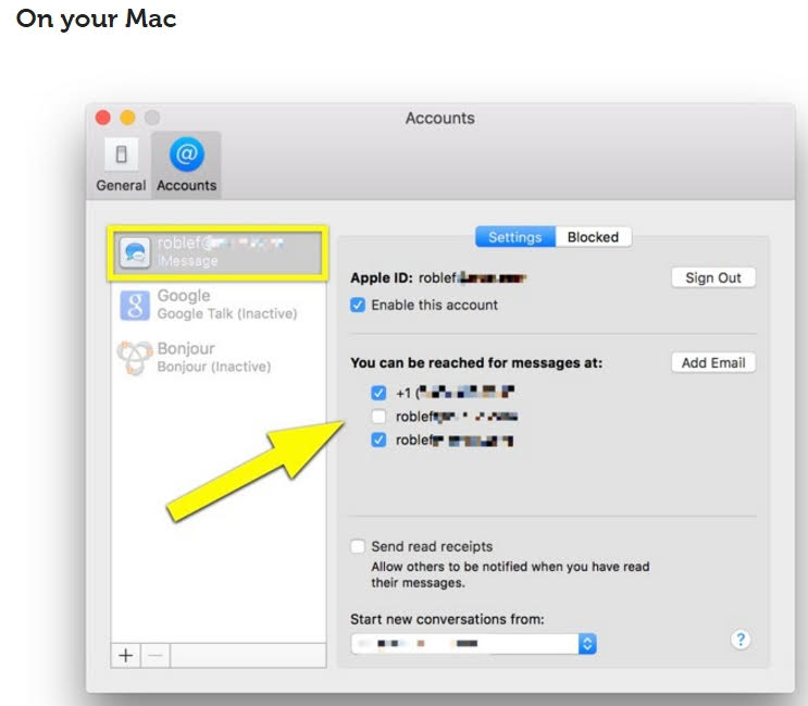 How to sync messages from iPhone to Mac-MAc Preference - Step 4