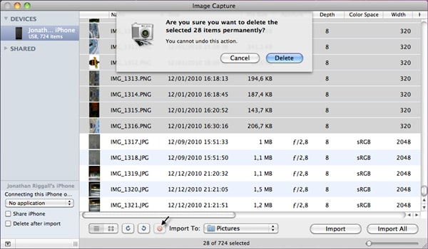 How to sync pictures from iPhone to Mac-imagecapture - Part 5