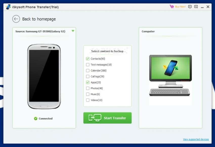 Top 20 Samsung Transfer Tools to backup samsung data-iSkysoft Phone Transfer
