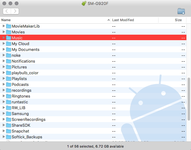 How to Transfer Music from Android to Mac-Drag and Drop