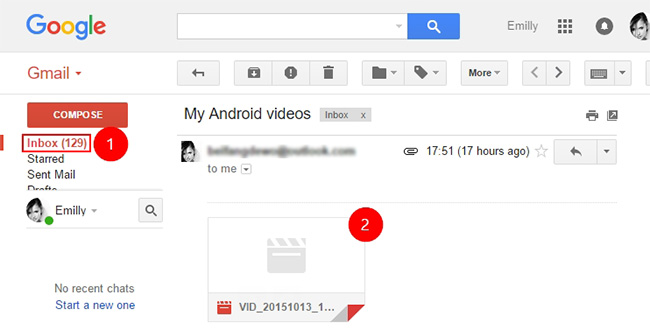 How to transfer pictures from Android to Mac-gmail