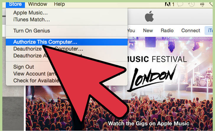 How to Transfer music from ipod to Mac-iTunes-authorize-computer-Step-2