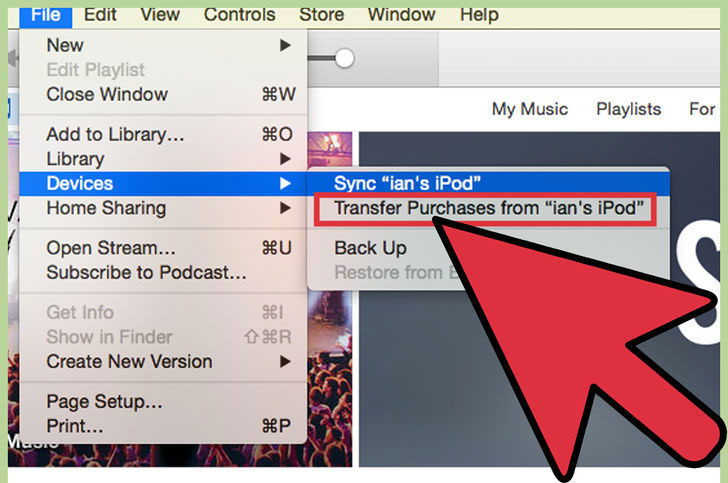 How to Transfer music from ipod to Mac-