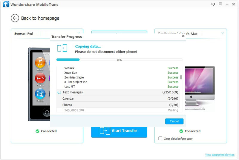 Top 5 iPod to Mac Transfer tool -Transfer-the-photos-Step-3