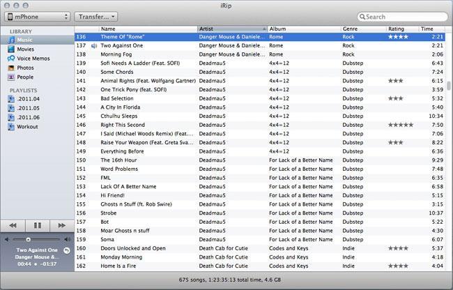 Top 5 iPod to Mac Transfer tool -irip