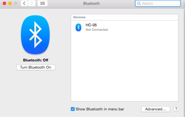 How to transfer Windows Phone to Mac-Enable Blutooth on Mac - step 1
