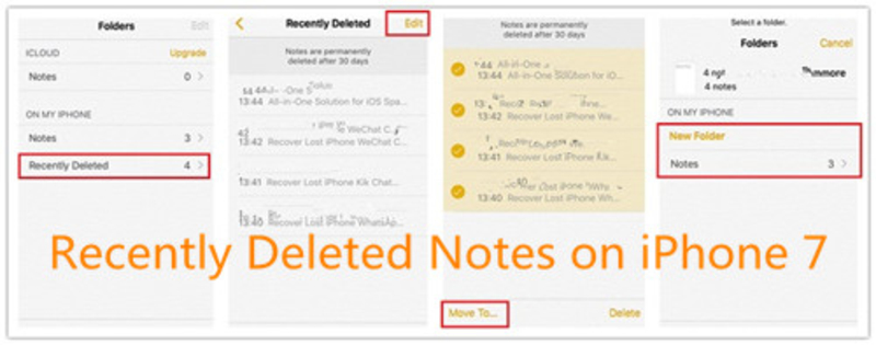 How to Restore Notes from iCloud-Recently Deleted