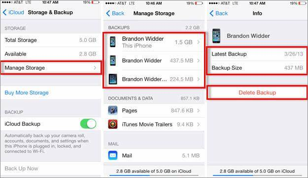 How to restore messages from iCloud -Get rid of unwanted backup
