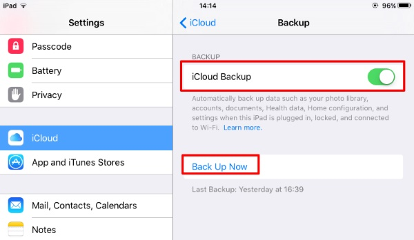 How to restore messages from iCloud -Turn on the automatic backup
