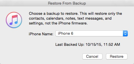 How to restore iphone contacts from iTunes Backup -itunes