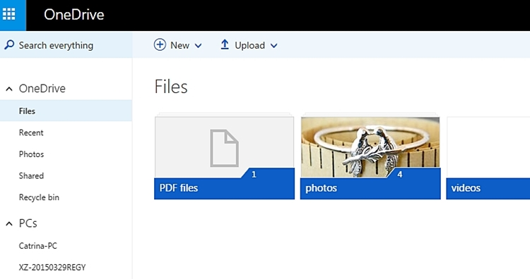 How to Backup Files to Onedrive -Log-in to the website