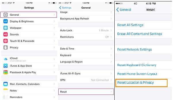 Fix iTunes won't recognize iphone -Reset Privacy settings