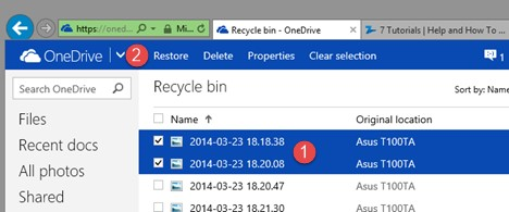 How to Restore Onedrive files -