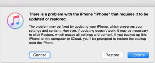 fix iphone won't restore -Restore using iTunes