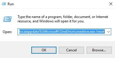 fix Onedrive not syncing-Reset OneDrive