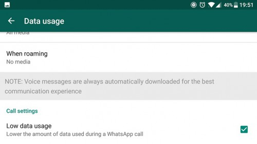 Whatsapp tips and tricks-Low data usage