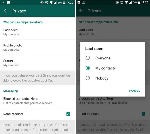 Whatsapp tips and tricks-hiding status