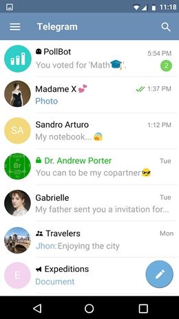 top 15 whatsapp alternatives-Telegram Messenger