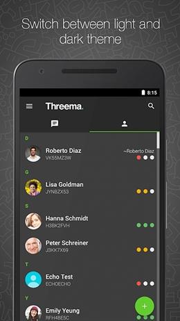 top 15 whatsapp alternatives- Threema