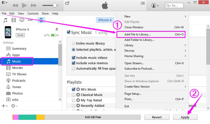 how to add songs to ipod