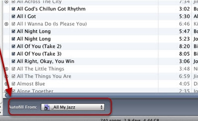 Add music to ipod-Autofill
