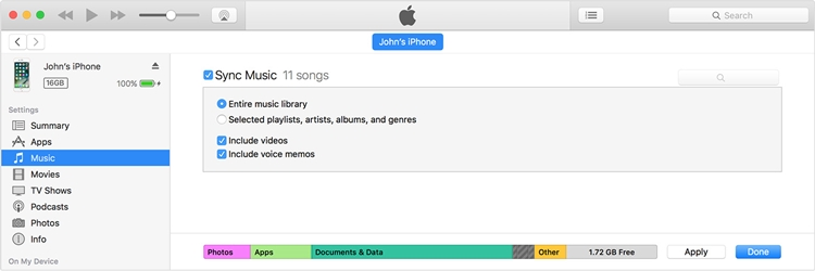 Sync iPod with iTunes