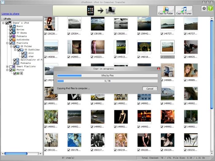 iPod to computer transfer tools -iCopyBot