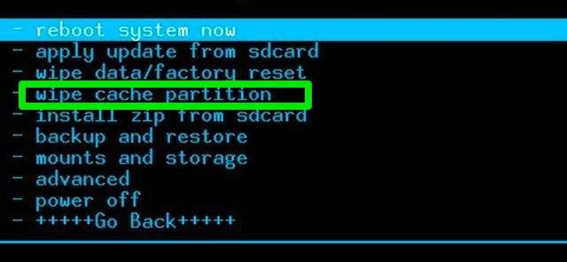 solutions for infected by copycat-Clear cache partition