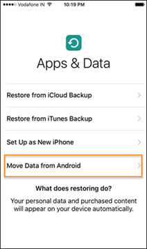 Transfer contacts from Galaxy to iPhone with Move to iOS app